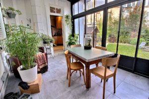 Villa Dunois maison d'hôtes Orléans - Loiret (veranda, jardin)