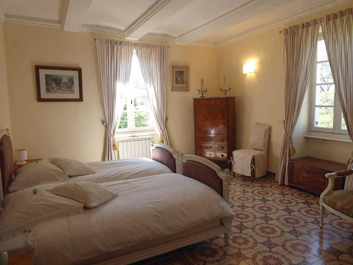 Chambre de la Suite familiale - Le Mas des Sages (Aubussargues près d'Uzès)